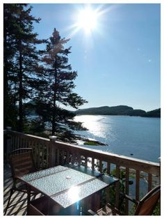 Cottage in Le Bic, Bas-Saint-Laurent, Quebec, Canada. Great view on St-Lawrence river. Bas Saint Laurent, St Lawrence, Canada, Great View, Campsite, Quebec, North America, Deck, Cottage