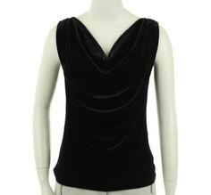 Lauren Ralph Lauren Cowl Neck Sleeveless Shirt Black PP Lauren by Ralph Lauren. $56.88. Save 28%!
