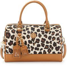 Tory Burch Kerrington Leopard-Print Satchel Bag