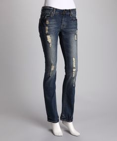 Hybrid & Company Dark Wash Distressed Plus-Size Bootcut Jeans That Look, Skinny Jeans, Plus Size, Denim, Stylish, Pants, Shopping, Clothes, Dark