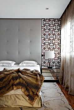 Modern Nightstand Ideas from the Master Bedroom Collection Men's Bedroom Design, Bed Design, Home Decor Bedroom, Modern Bedroom, Bedroom Furniture, Master Bedroom, Bedroom Ideas, Bedroom Bed, Upholstered Walls