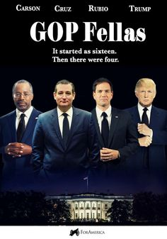 By the time they keep dropping it will be either Cruz or Rubio and hopefully the president will pick the other for Vice President,