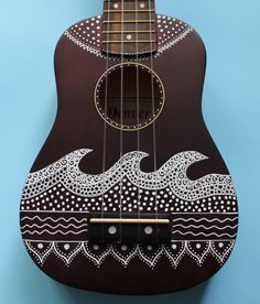 Zentangle inspiró pintado ukelele