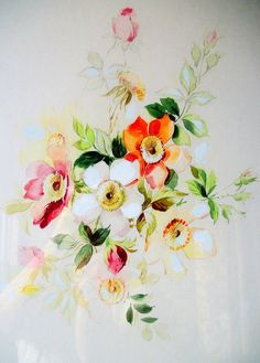 Masterfully done. Vintage Original Art Floral Watercolor by VintageHomeShop on Etsy, $59.00