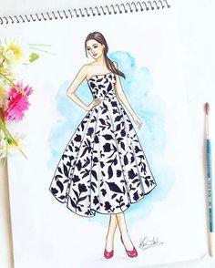 "215 Likes, 15 Comments - Dipti Patel (@dipti.illustration) on Instagram: ""Quick Monochromatic illustration. #fashionillustration #monochrome #sketchbook #artoftheday…"""