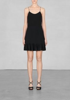 And Other Stories   Viscose mini dress   Black