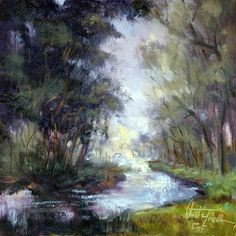 """Daily Paintworks - """"The Little Creek"""" by Christa Friedl"""