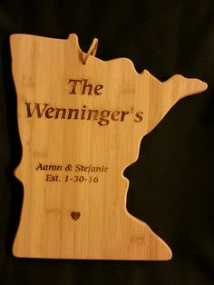 Custom engraved MN cutting  board for Jackie from 3DCarving on Etsy
