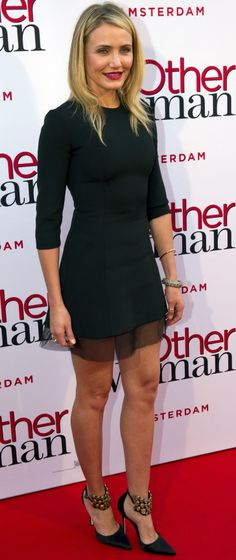 Cameron Diaz in Dior at The Other Woman's Amsterdam premiere.