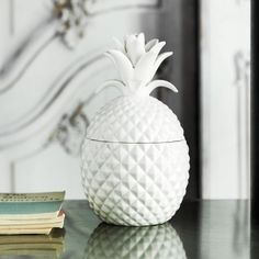 White Ceramic Pineapple Jar Quirky Bits Home Decoration Home Accessories