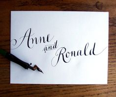 K is for Calligraphy {envelope calligrapher and her many font styles}