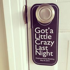 Contact me for your custom door hanger request www.etsy.com/shop/wright4design #wedding #weddingbag #welcomebag #weddingfavor #weddingplanner #weddingphotographer #donotdisturb #etsy #diywedding #diyproject #diy #weddinggift #destinationwedding #hotelmotelholidayinn #pinterestwedding #etsywedding