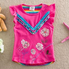 Baby Girls Clothing 2016 summer 2-6y Children girls flower t shirt sleeveless t-shirt girls flowers kids clothes for girl #>=#>=#>=#>=#> Click on the pin to check out discount price, color, size, shipping, etc. Save and like it!