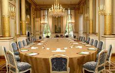 Depuis la présidence de Georges Pompidou, le Salon Murat accueille le Conseil des ministres tous les mercredis matins. © Présidence de la République