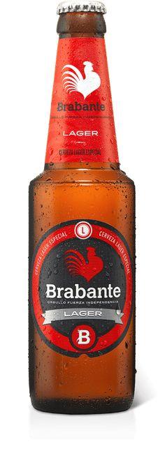 BRABANTE LAGER Cerveza española tipo lager de color dorado, con suave aroma a… Malt Beer, Beer Brands, Color Dorado, Bottle Packaging, Beer Label, Wine Drinks, Home Brewing, Beer Bottle, Branding