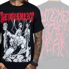 "Devourment ""Butcher the Weak"" T-Shirt Band Merch, Band Shirts, Metal Bands, Black Metal, Outfit, Romance, Music, Mens Tops, T Shirt"