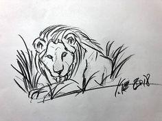 Lion, Sketch, Art, Leo, Sketch Drawing, Art Background, Kunst, Lions, Draw