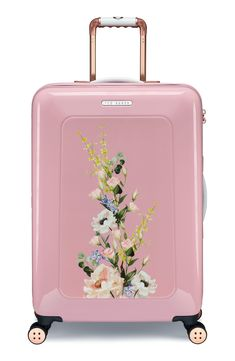 Rose Gold Marble Palms Traveler Lightweight Rotating Luggage Cover Can Carry With You Can Expand Travel Bag Trolley Rolling Luggage Cover