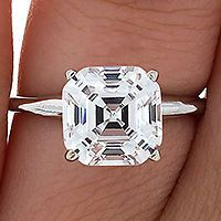 Asscher Cut Diamond Solitaire Engagement RIng, This is my dream ring. I love this cut!!