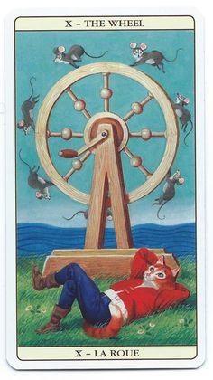 Marseille Cat Tarot - Wheel of Fortune