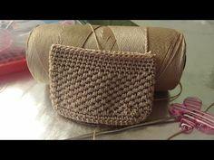 Monedero Tejido a Crochet En Punto Nido/La Luna Del Crochet - YouTube