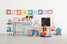 kids art display ideas | Grace Designs: Children's Party Ideas - Art Exhibition Party A possible party theme for a very uniquely creative little one!