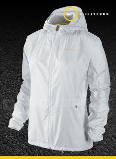nike womens vapor running jacket white/silver