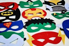 ONE 1 Deluxe Felt SUPERHERO MASK 17 styles to by baileysblossoms, $4.75