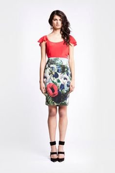 Paradise Skirt from White Verve - Love the print