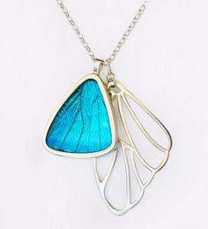 butterfly wing pendant-because it reminds me of the story about the caterpillar that turned into a butterfly