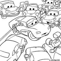 Coloriage Dessin Anime Cars.14 Images Passionnantes De Cars 1 Coloring Pages Coloring Books