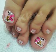 Beauty Makeup, Hair Beauty, Summer Toe Nails, Toe Nail Art, Manicure And Pedicure, Nail Designs, Lily, Tumblr, Pretty Pedicures