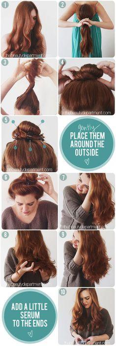 ~ The claw clip trick ~ #thebeautydepartment #hair #howto #hairideas #wavyhair