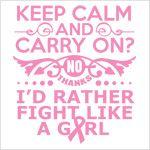 Breast Cancer Keep Calm T-shirt