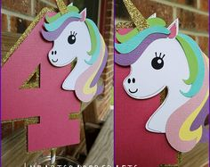 unicorn birthday ideas and inspiration Unicorn Birthday Parties, Birthday Party Decorations, Girl Birthday, Birthday Ideas, Unicorn Cake Topper, Unicorn Crafts, Pony Party, Party Time, Unicorns