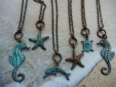 Adorable Ocean Charm Necklace. $22.00, via Etsy.