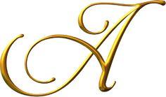 Alfabeto Decorativo: Alfabeto - Ouro 2 - PNG - Letras - Maiúsculas e Mi...