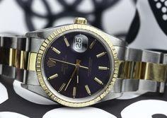 #Rolex #Date #15223 #1991 #steel #gold #yellowgold #purple #dial #watches #collector #steinermaastricht #maastricht #thenetherlands