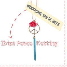 Ibiza Peace Ketting - Wannahave van de Week op @Hippe Shops ♥ Be Hip, Stay Tuned! van @SieradenByMari
