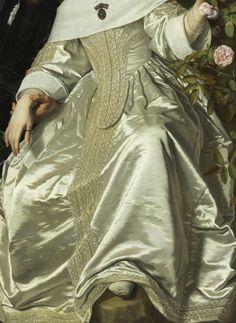 Bartholomeus van der Helst. Detail from Abraham del Court and his Wife, Maria de Kaersgieter, 1654.
