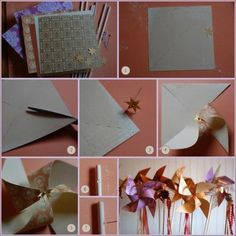 diy pinwheels... I used to make these with my students along with a poetry-writing activity. fun