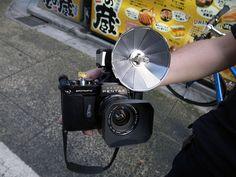 Asahi Pentax Spotmatic and bulb flash