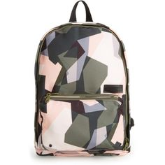 Women's State Bags Kensington Slim Lorimer Backpack ($90) ❤ liked on Polyvore featuring bags, backpacks, backpack, abstract camo, camo backpack, daypack bag, slim backpack, red backpack and rucksack bags