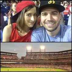 Alli & Charles Trippy at a Baseball Game