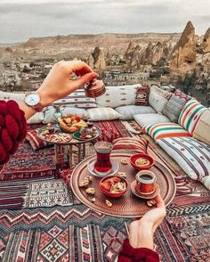 The only way to stay awake is Turkish coffee or strong tea ☕️ Meeting every … The only way to stay awake is Turkish coffee or strong tea ☕️ Meeting every sunrise here ❤️ Good morning from Cappadocia ✨ Wearing Cathy Luse… Places To Travel, Places To Visit, Istanbul Travel, Cappadocia Turkey, Morocco Travel, Turkey Travel, How To Stay Awake, Turkish Coffee, Travel Goals