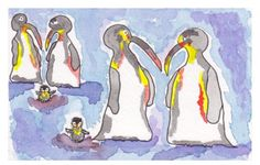 """"""" """"Penguin Families for + ❤️ It has been an honor thank u"""" Penguins, The Fosters, Charity, Families, Island, Studio, Twitter, Artist, Fun"""