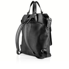 syd backpack black leather