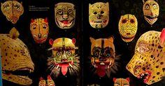 Máscaras de danzas populares. Foto: ArtesdeMéxico