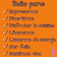 Bailo para: Expresarme Divertirme Disfrutar la música Liberarme Llenarme de energía Ser feliz Sentirme viva  Y tú? Por qué bailas?  #baile #bailar #música #music #love #instagood #me #interesado #follow #followme #photooftheday #tagsforlikes #beautiful #girl #picoftheday #like #smile #like4like #fun #friends #instadaily #igers #instalike #amazing #follow4follow #bestoftheday