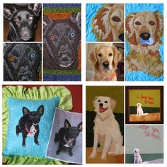 Dog Photo Portrait Quilt Tutorial